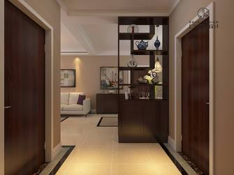 富裕型80平米美式风格玄关设计图