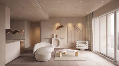 20万以上90平米一居室日式风格客厅图