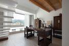 豪华型140平米三室三厅日式风格书房图