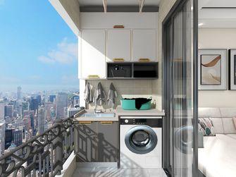 5-10万80平米三室两厅现代简约风格阳台效果图