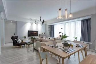 富裕型130平米三室两厅北欧风格餐厅装修效果图