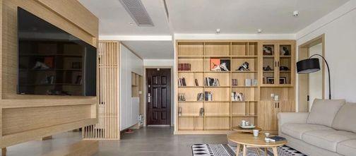 经济型120平米三室一厅现代简约风格玄关装修效果图