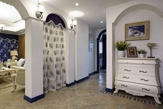 20万以上140平米四室两厅地中海风格客厅设计图