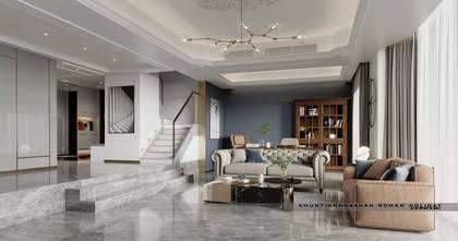 20万以上140平米复式混搭风格客厅效果图