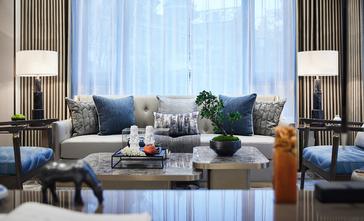 豪华型110平米三室一厅中式风格客厅图片