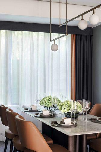 富裕型130平米四室两厅现代简约风格餐厅欣赏图