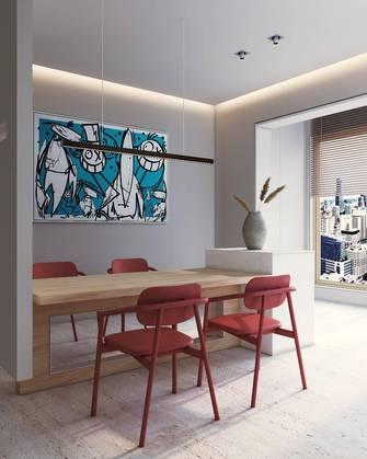 豪华型140平米四室一厅现代简约风格餐厅装修图片大全
