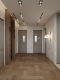经济型80平米公寓英伦风格玄关装修效果图