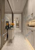 140平米三美式风格走廊装修效果图
