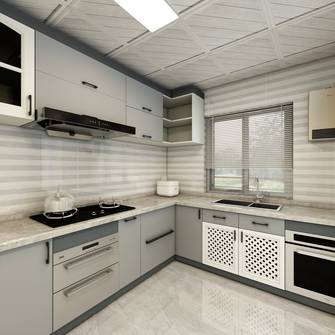 20万以上140平米四室一厅北欧风格厨房装修案例