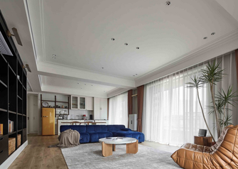 豪华型140平米四室两厅混搭风格客厅图