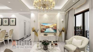 5-10万80平米三室一厅北欧风格客厅设计图