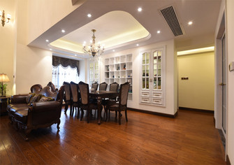 豪华型140平米复式美式风格餐厅图