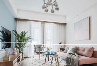 富裕型80平米北欧风格客厅装修案例