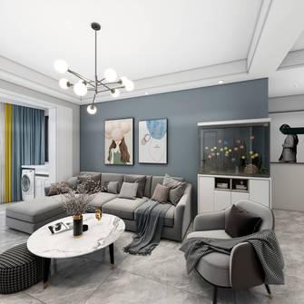 10-15万80平米三室一厅混搭风格客厅装修案例