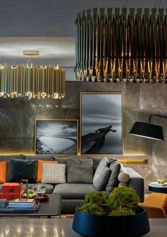 120平米三港式风格客厅设计图