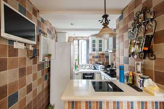 100平米三地中海风格厨房设计图