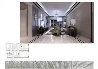 80平米三港式风格客厅欣赏图