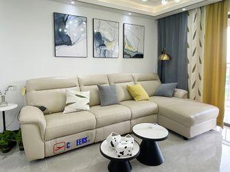 富裕型90平米三室两厅现代简约风格客厅设计图