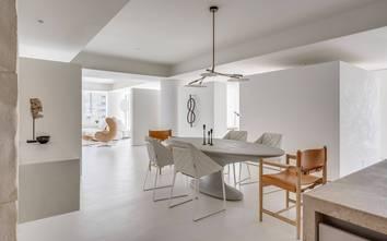 10-15万90平米三室两厅现代简约风格餐厅欣赏图