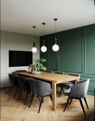 富裕型100平米三室两厅轻奢风格餐厅装修图片大全