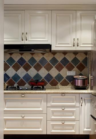 富裕型110平米三室两厅美式风格厨房设计图