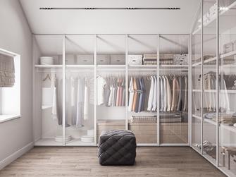 经济型110平米三室两厅现代简约风格衣帽间图片大全