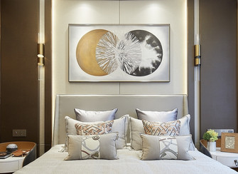 20万以上140平米四室三厅轻奢风格卧室设计图