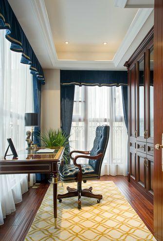 20万以上110平米三室一厅欧式风格书房图片大全