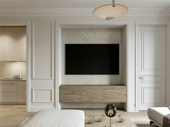 140平米三室两厅法式风格客厅图