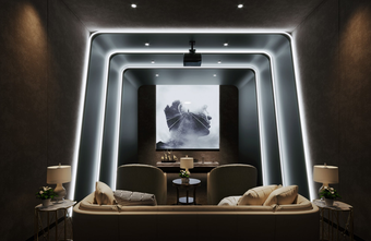 140平米现代简约风格影音室图片大全