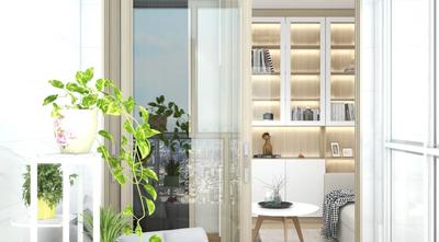5-10万60平米一室两厅日式风格阳台图片