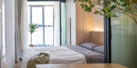 5-10万60平米一室两厅日式风格卧室设计图