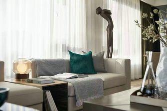 富裕型110平米三室两厅轻奢风格客厅效果图
