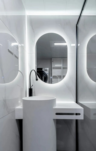 100平米公寓美式风格卫生间图片