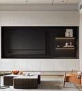 富裕型70平米一居室混搭风格客厅装修案例