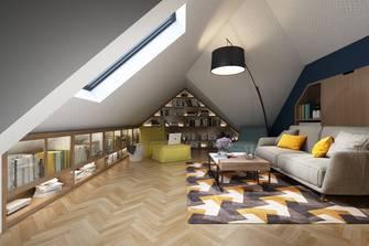 20万以上140平米别墅混搭风格阁楼装修图片大全