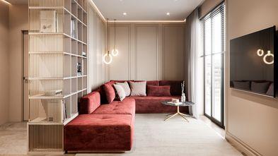 经济型60平米现代简约风格客厅装修效果图