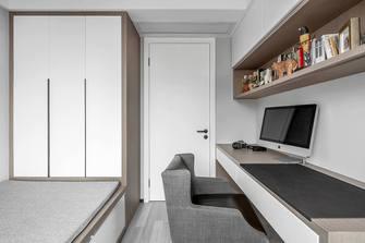 富裕型140平米三室两厅现代简约风格书房图片大全