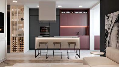 富裕型140平米美式风格厨房图