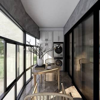 富裕型100平米三室一厅日式风格阳台图片大全