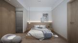 富裕型90平米三室三厅日式风格卧室图片
