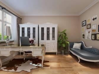 富裕型140平米三室两厅欧式风格书房设计图