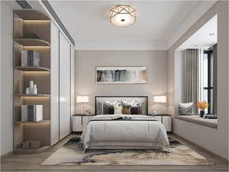 豪华型四室两厅轻奢风格卧室装修案例