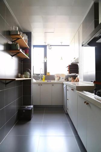 富裕型110平米三室三厅北欧风格厨房装修图片大全