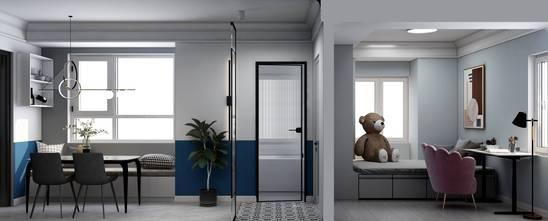 三室两厅现代简约风格书房装修图片大全