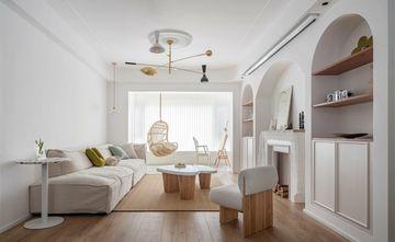 富裕型80平米三室一厅北欧风格客厅装修案例