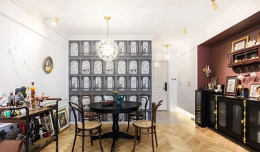 富裕型110平米混搭风格餐厅装修图片大全