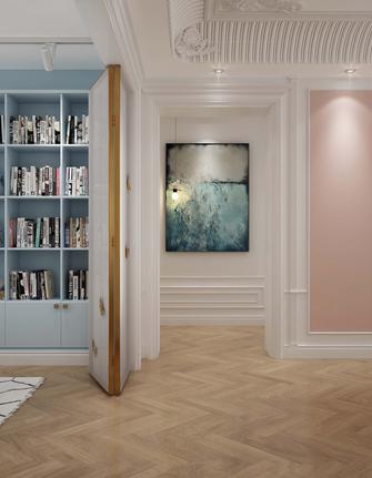 富裕型140平米四欧式风格走廊图