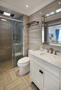 富裕型100平米三室两厅欧式风格卫生间图片